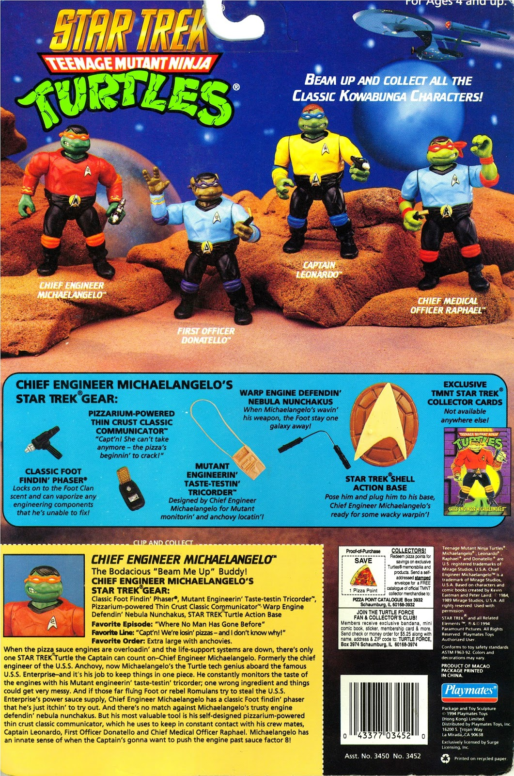Star Trek Ninja Turtles Playmates