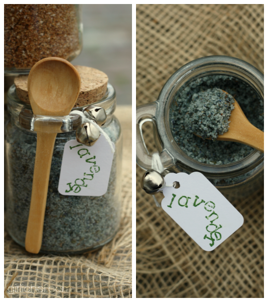 Lavender Sea Salt {DIY} #HandcraftedHolidays at www.girlichef.com