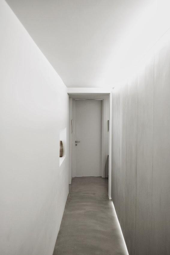 Ilia estudio interiorismo hormig n pulido madera y for Hormigon pulido blanco