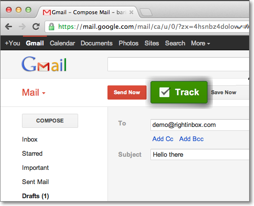 Track emails gmail