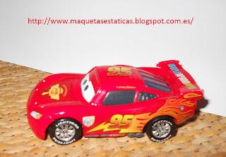 coche miniatura de Rayo McQueen