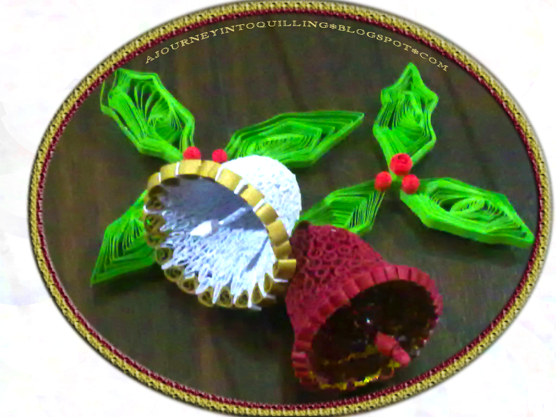 Journey into Quilling & Paper Crafting: Quilled Christmas Bells ...
