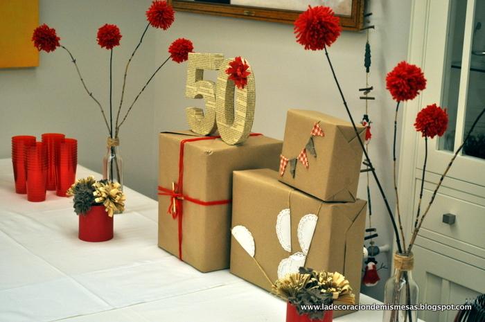 la decoración de mis mesas: Fiesta de cumpleaños en Navidad