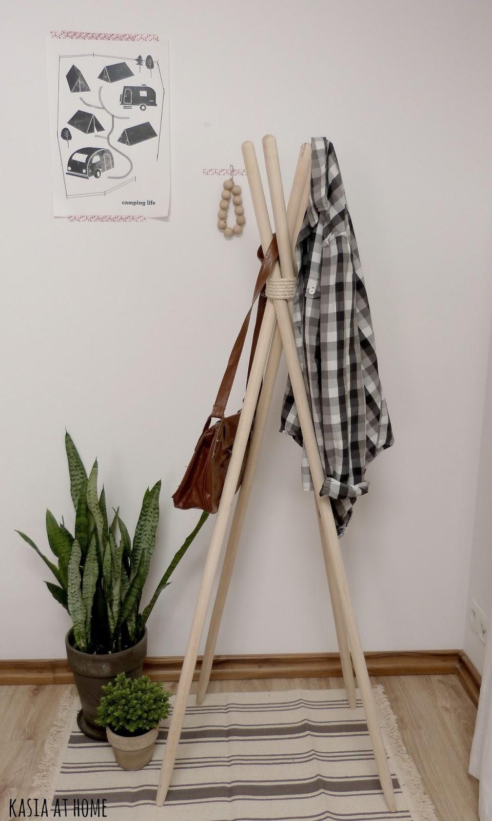 Diy wieszak na ubranie kasia at home Home ubrania
