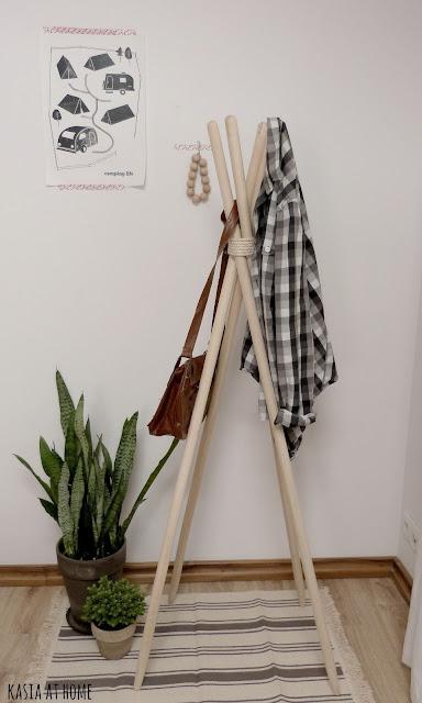 Kasia at home diy wieszak na ubranie Home ubrania