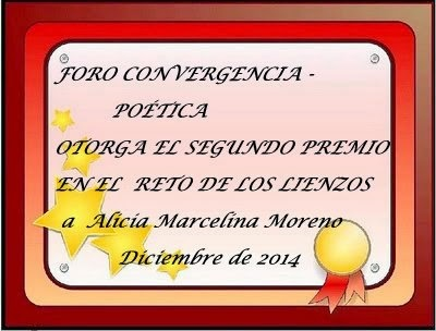 "Segundo Premio ""Reto de los lienzos""Foro Convergencia Poetica"