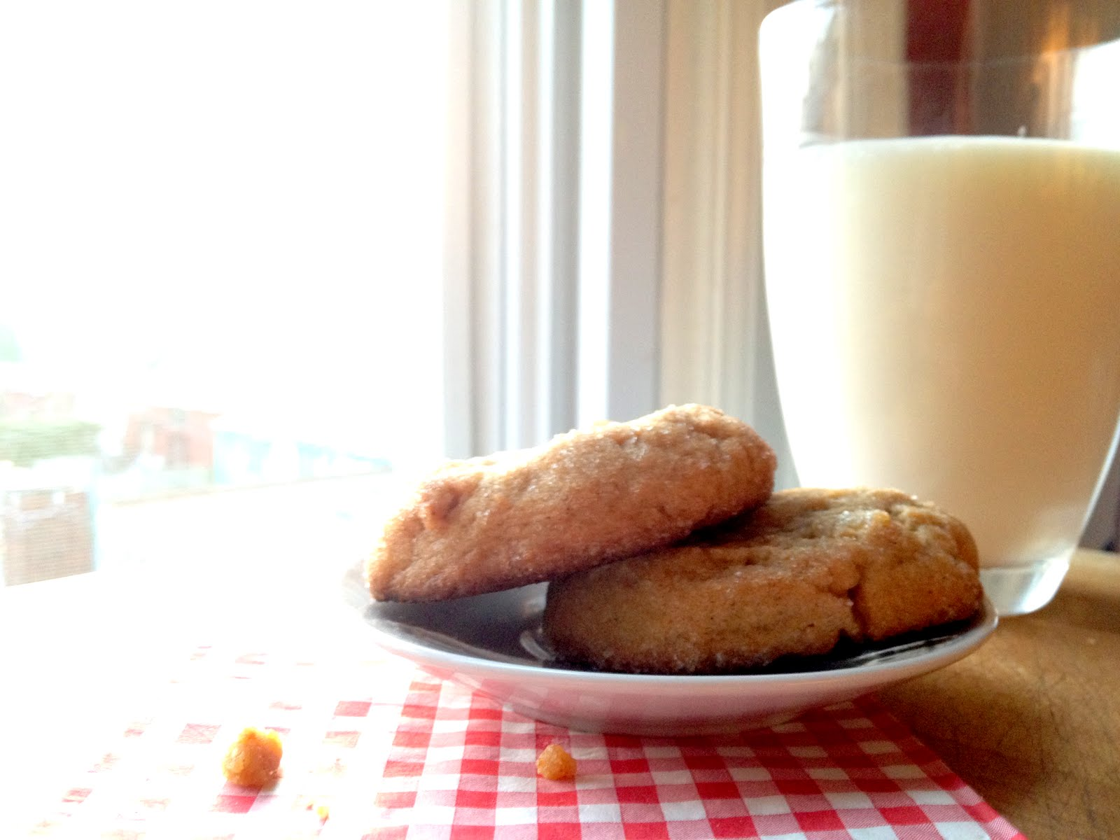 The Kitchen Boudoir: Chewy Gingersnap Cookies with Candied Ginger