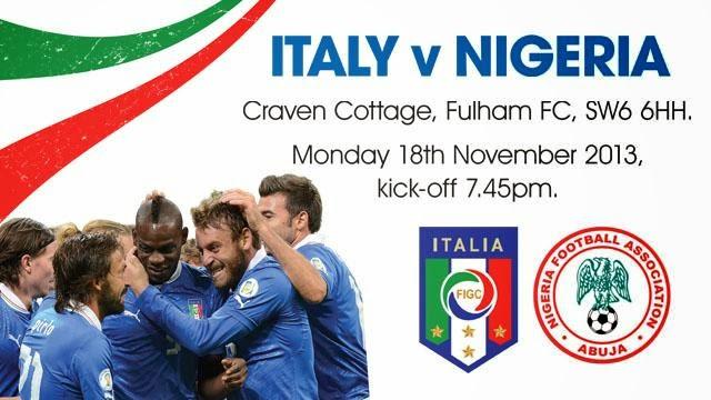 """""""Italy V Nigeria"""""""