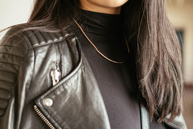old navy necklace, asos cropped turtleneck style, sf fashion blogger