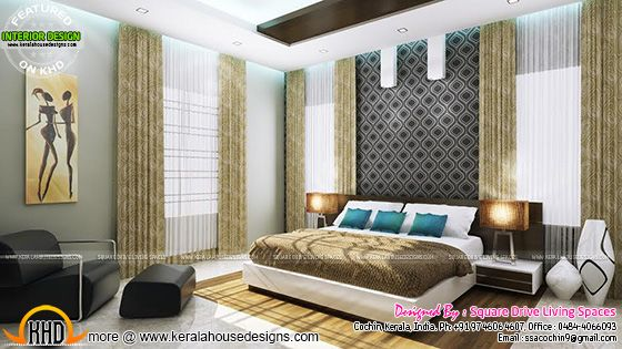 Bedroom interior, Kerala