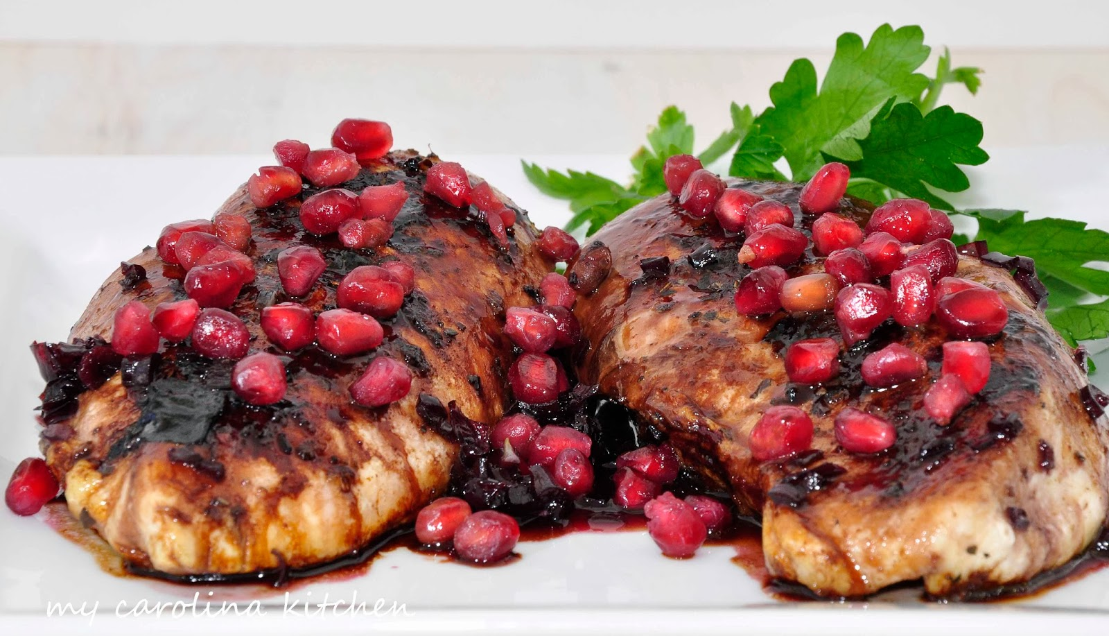 ... glazed roasted cornish game pomegranate glazed chicken carr winery