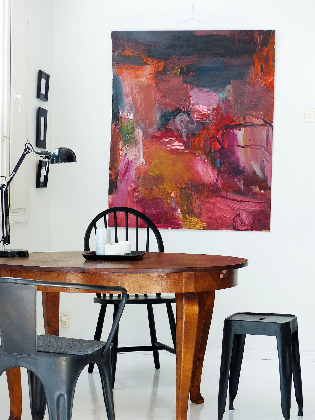 Meidän harmoniaa Keittiön laminaattitason maalaus
