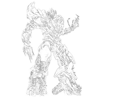 transformers coloring pages megatron - transformers war for cybertron coloring pages