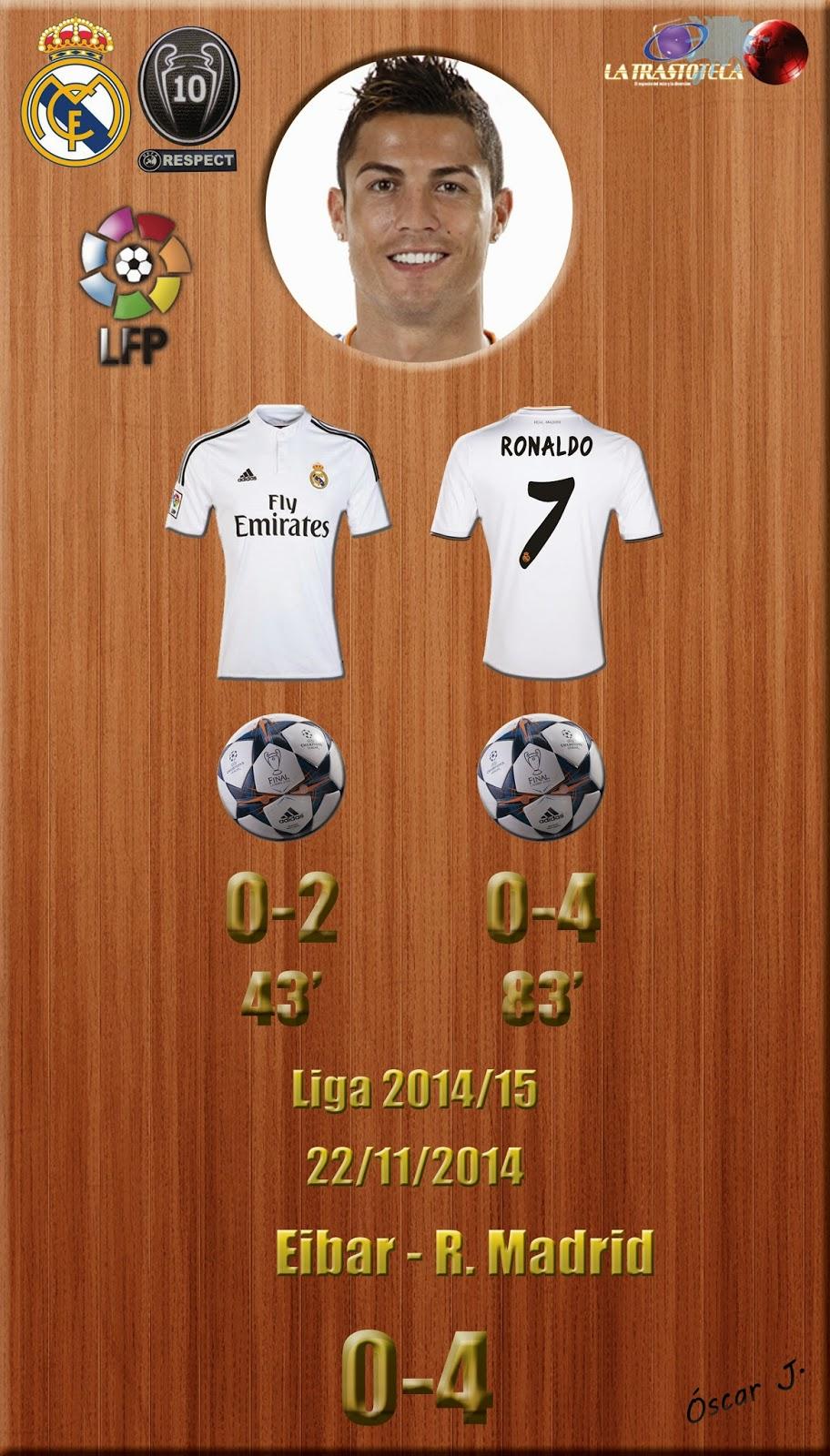 Cristiano Ronaldo - Doblete - Eibar 0-4 Real Madrid - Liga 2014/15 - Jornada 12 - (22/11/2014)
