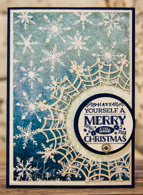 Snow Filled Merry Christmas Card made using Stampin' Up! UK Supplies - get them here