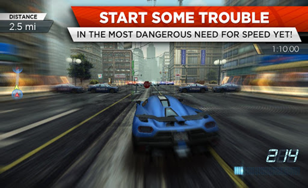 Top Racing games in Android Need For Speed