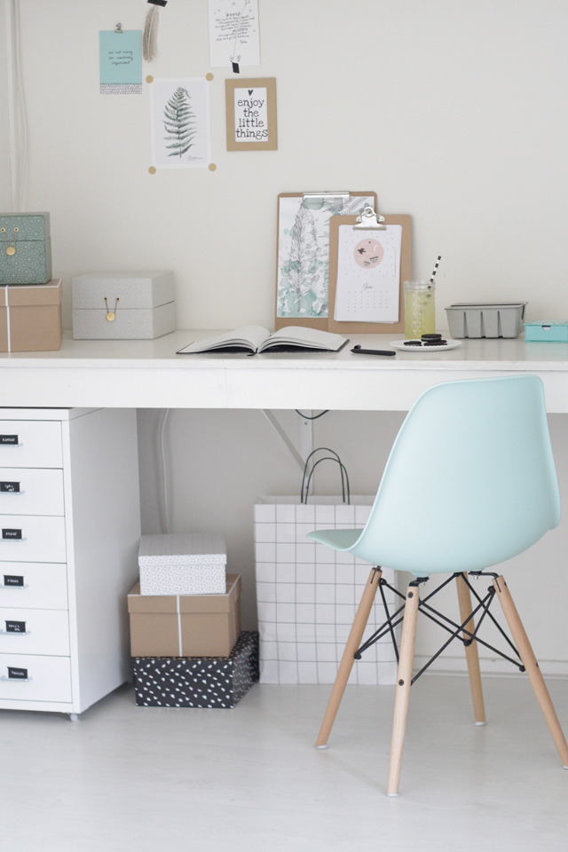 Boho deco chic como tener un despacho de pinterest en - Como decorar un despacho en casa ...