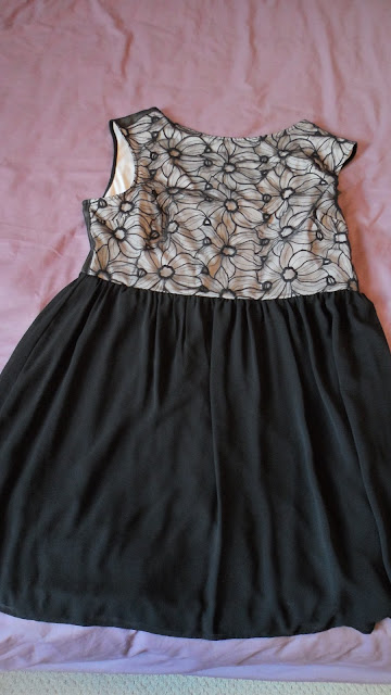 Primark black daisy top dress
