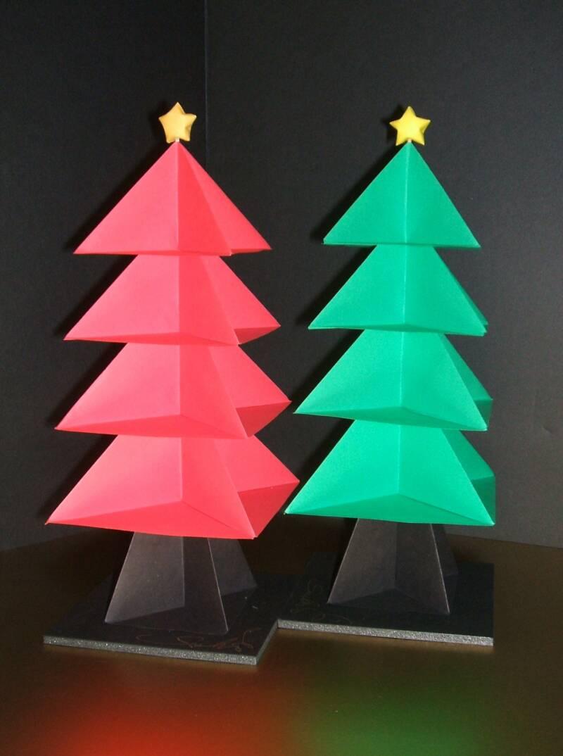 Rbol de navidad el arte del origami - Arbol de navidad origami ...