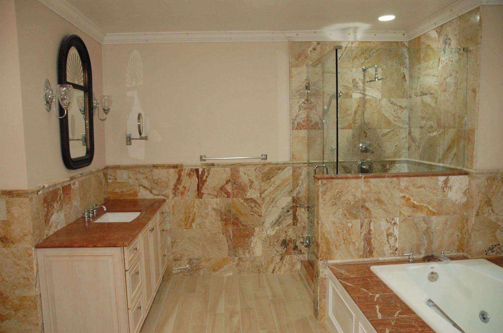 Custom Bathroom Remodeling 12x12 Travertinetile Installation For Master Bathroom Shower Walls