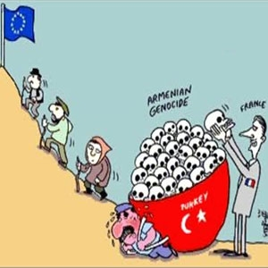 Fransa'da sözde soykırım karikatürü rezaleti