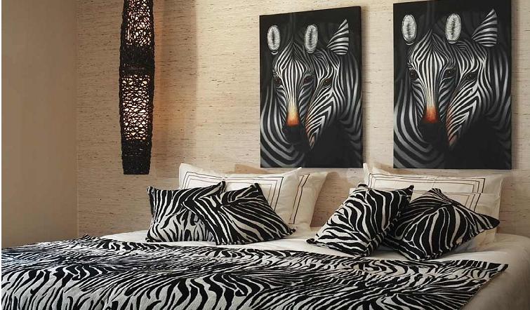 Dormitorios con estampados de cebra dormitorios colores - Decoracion en cebra ...