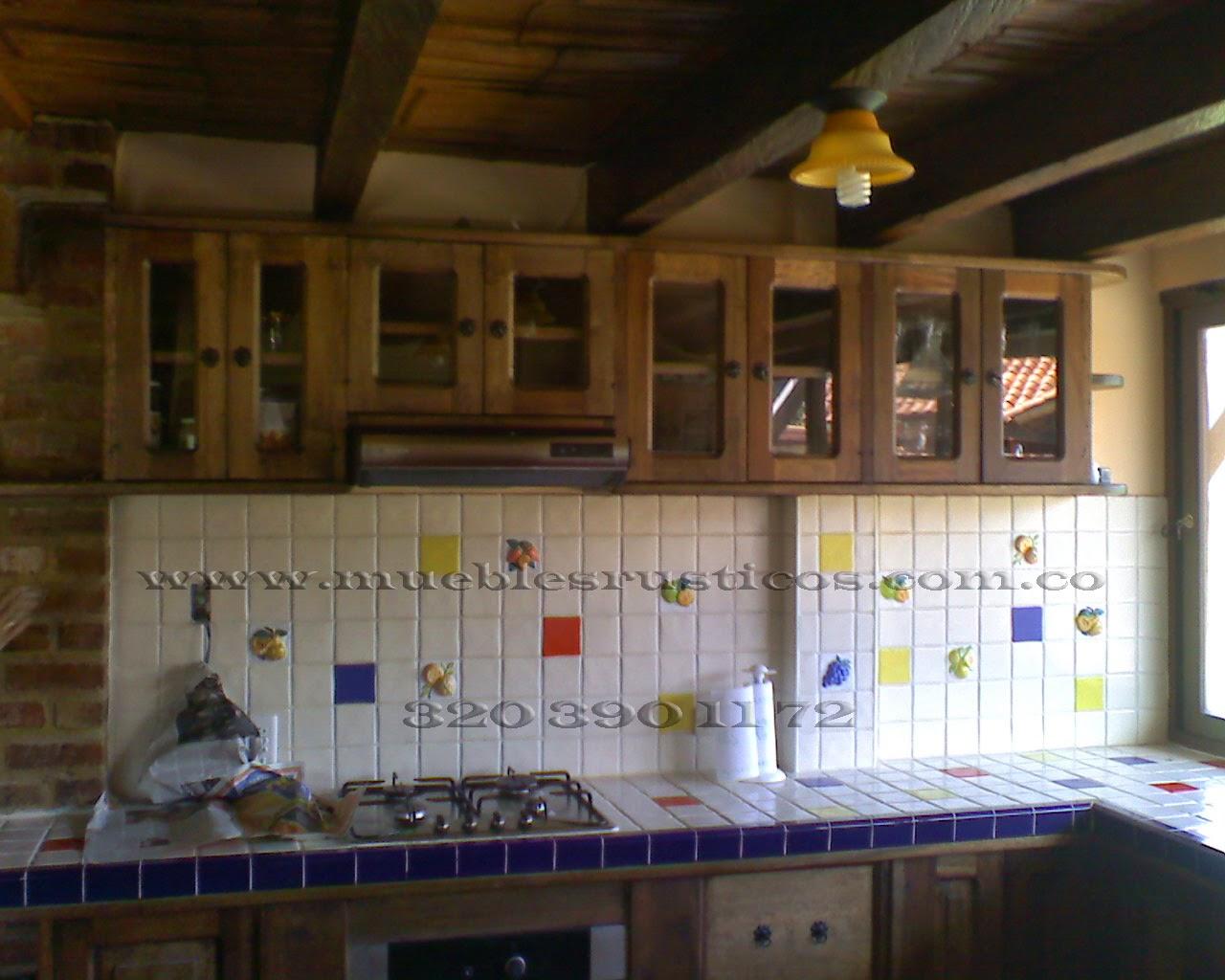 Muebles rusticos bogota cocinas integrales en madera for Cocinas integrales de madera