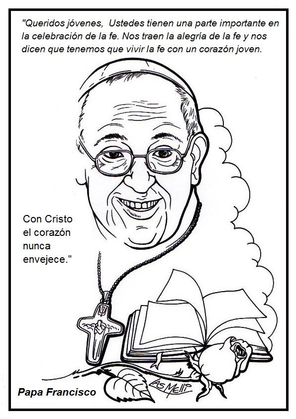 Aprendemos con el Papa Francisco: Frases para colorear del Papa ...