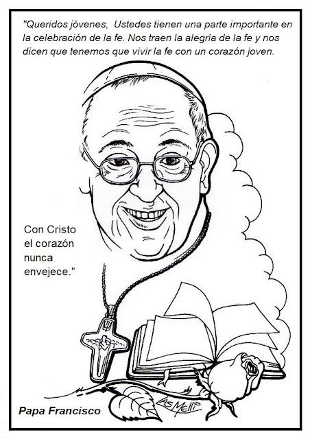 Jesús te llama - El Papa Francisco para colorear