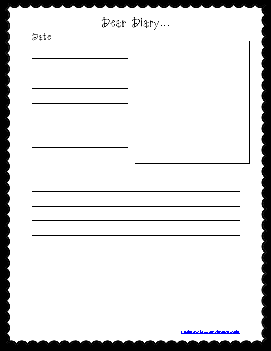 Realistic teacher october 2012 for Diary writing template ks1