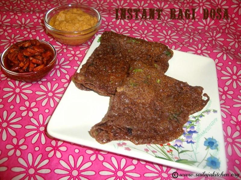 image of Instant Ragi Dosa / Ragi Dosa Recipe / How to make Ragi Dosa / Quick Ragi Dosa Recipe