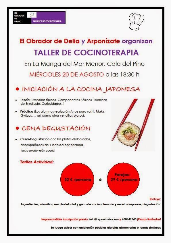 Taller de iniciación a la cocina japonesa en Arponízate, de La Manga del Mar Menor