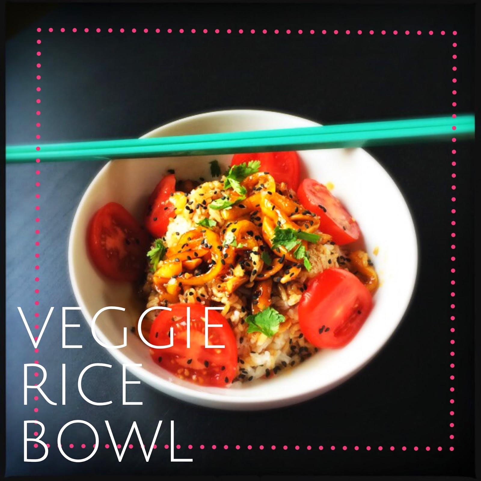 Super easy veggie rice bowls! The Graffitied Gardenia