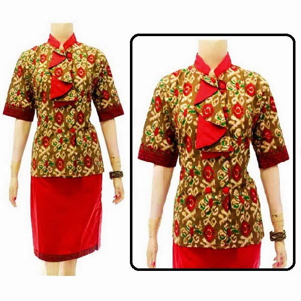 DB3710 Mode Baju Dress Batik Modern Terbaru 2014