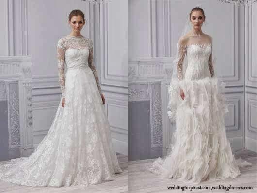 Gaun pernikahan dan aksesoris bergaya klasik
