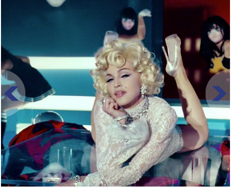 Madonna encarna Marilyn Monroe no video Give Me All Your Luvin