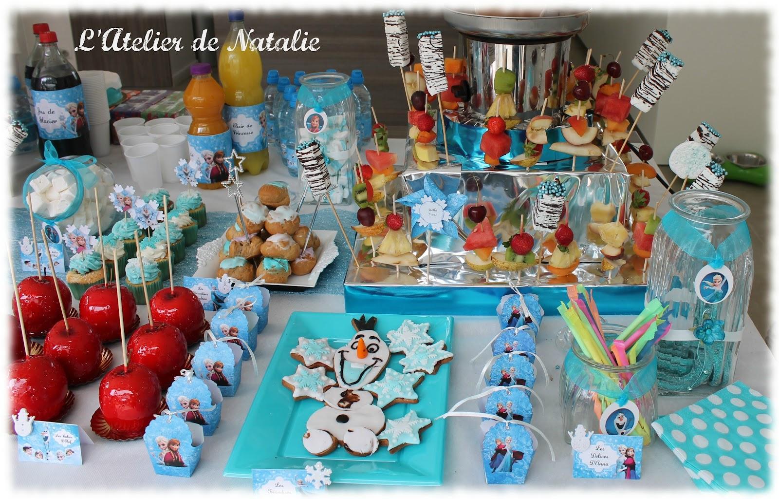 L 39 atelier de natalie sweet table theme reine des neiges for Decoration la reine des neiges