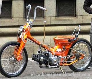 Modifikasi motor Honda Astrea Prima