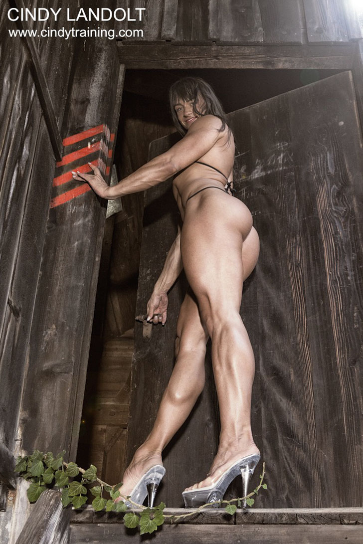 Cindy Landolt Modeling Her Great Legs And Glutes In Heels