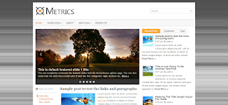 Metrics Wordpress Template Is a Clean And Simple Wp Template