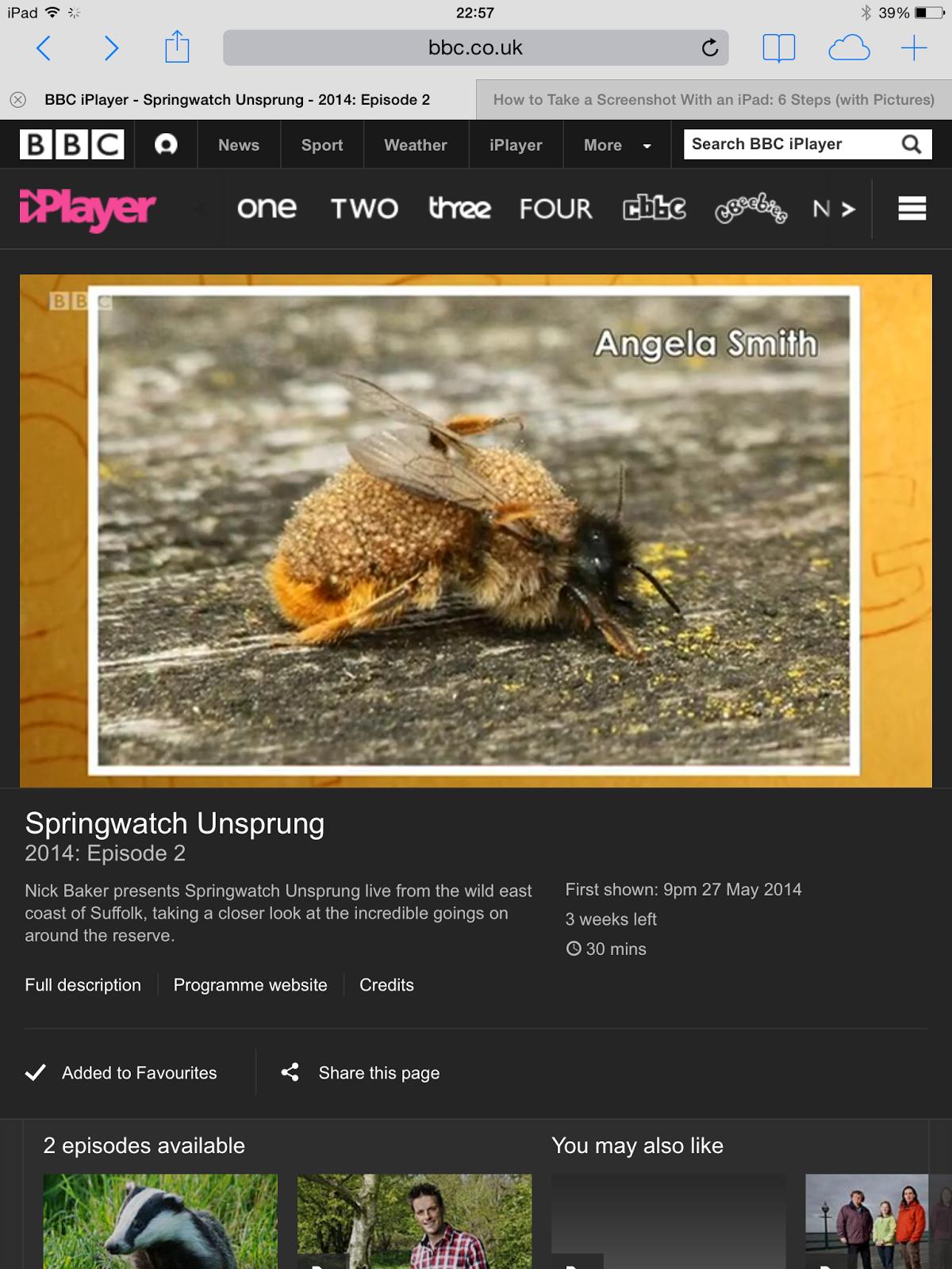 BBC Springwatch Unsprung fame