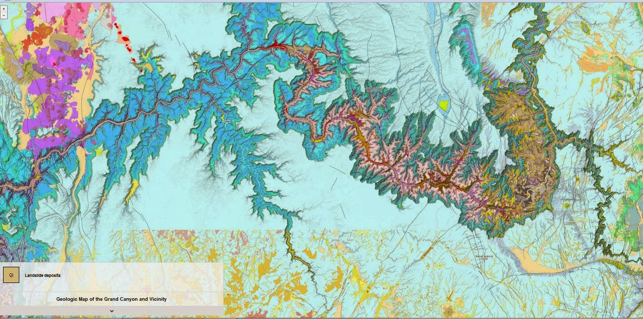 Arizona Geology Interactive Geologic Map Of The Grand Canyon Area