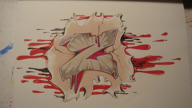 graffiti letters z 3d. Graffiti Letters Z by SHin