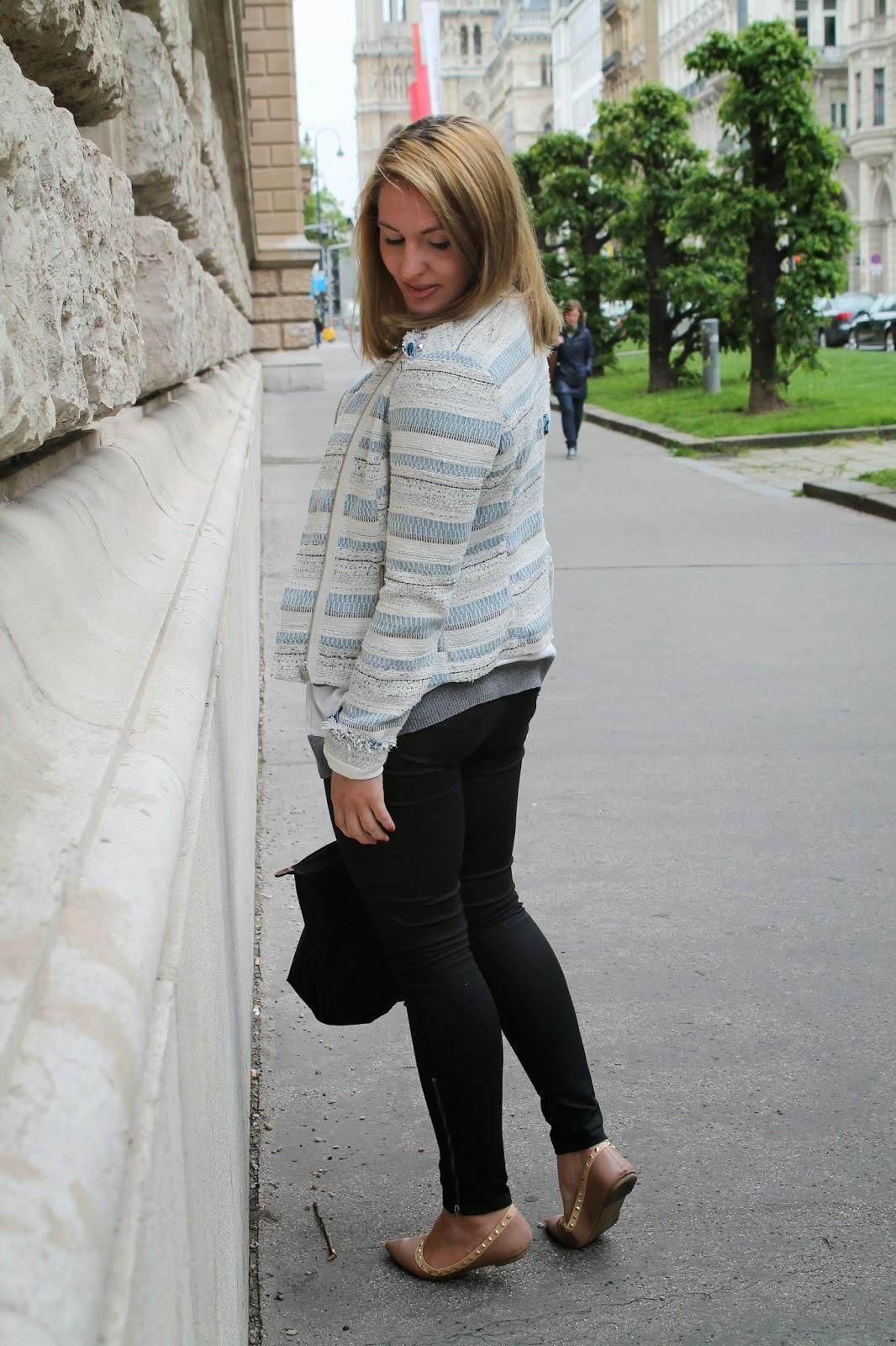 Fashionblogger Austria / Österreich / Deutsch / German / Kärnten / Carinthia / Klagenfurt / Köttmannsdorf / Spring Look / Classy / Edgy / Boucle / Longchamp / Le Pliage / Statement / Valentino Dupe / Mango / Zara / H&M/ Forever 21 / C&A