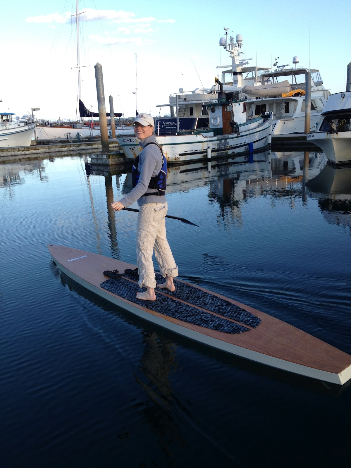 April Paddleboarding on the 14' Paddleboard | Itching For Fun