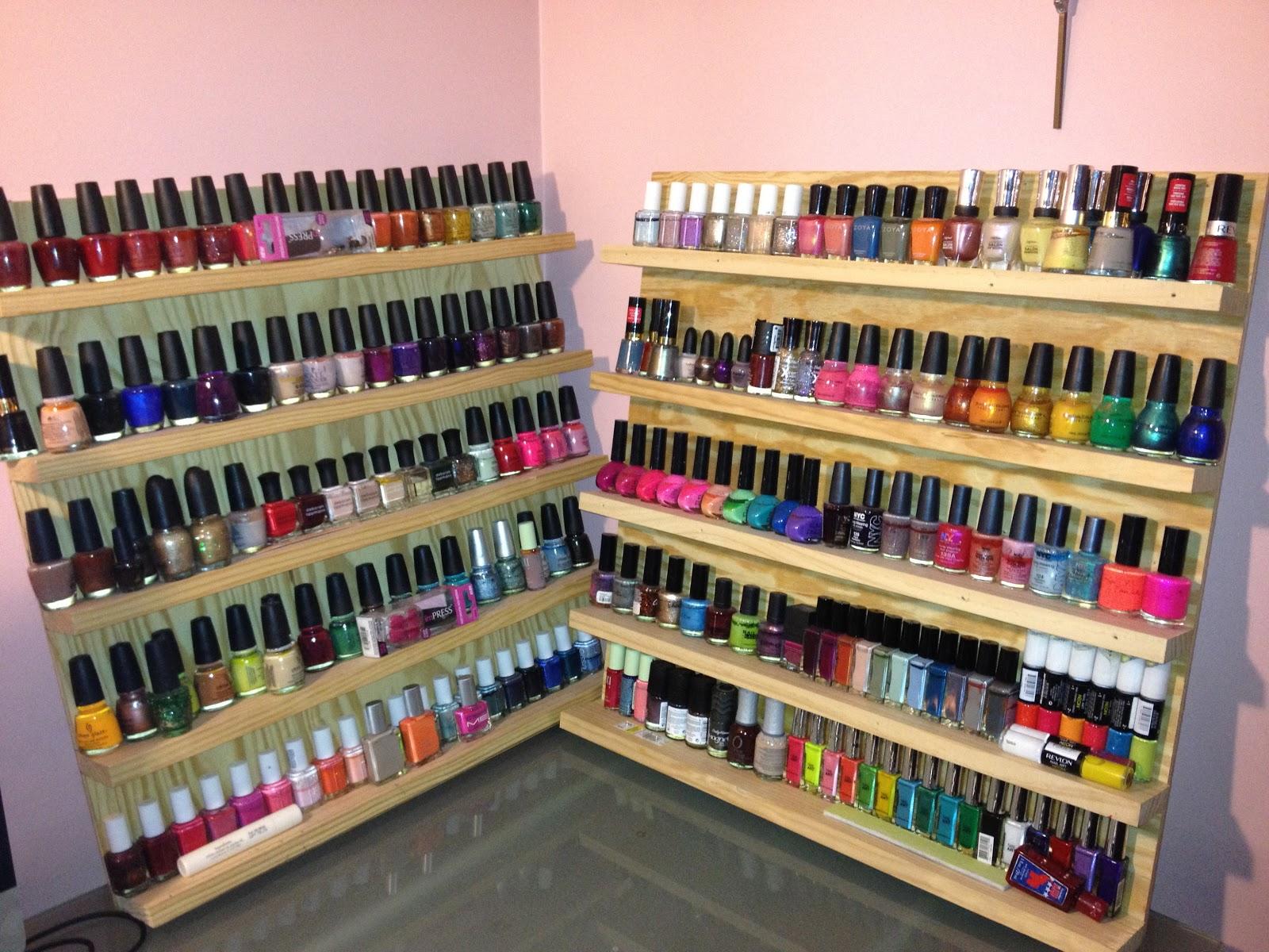 January 2013 heard it through the irvine up against the wall the two nail polish racks solutioingenieria Gallery