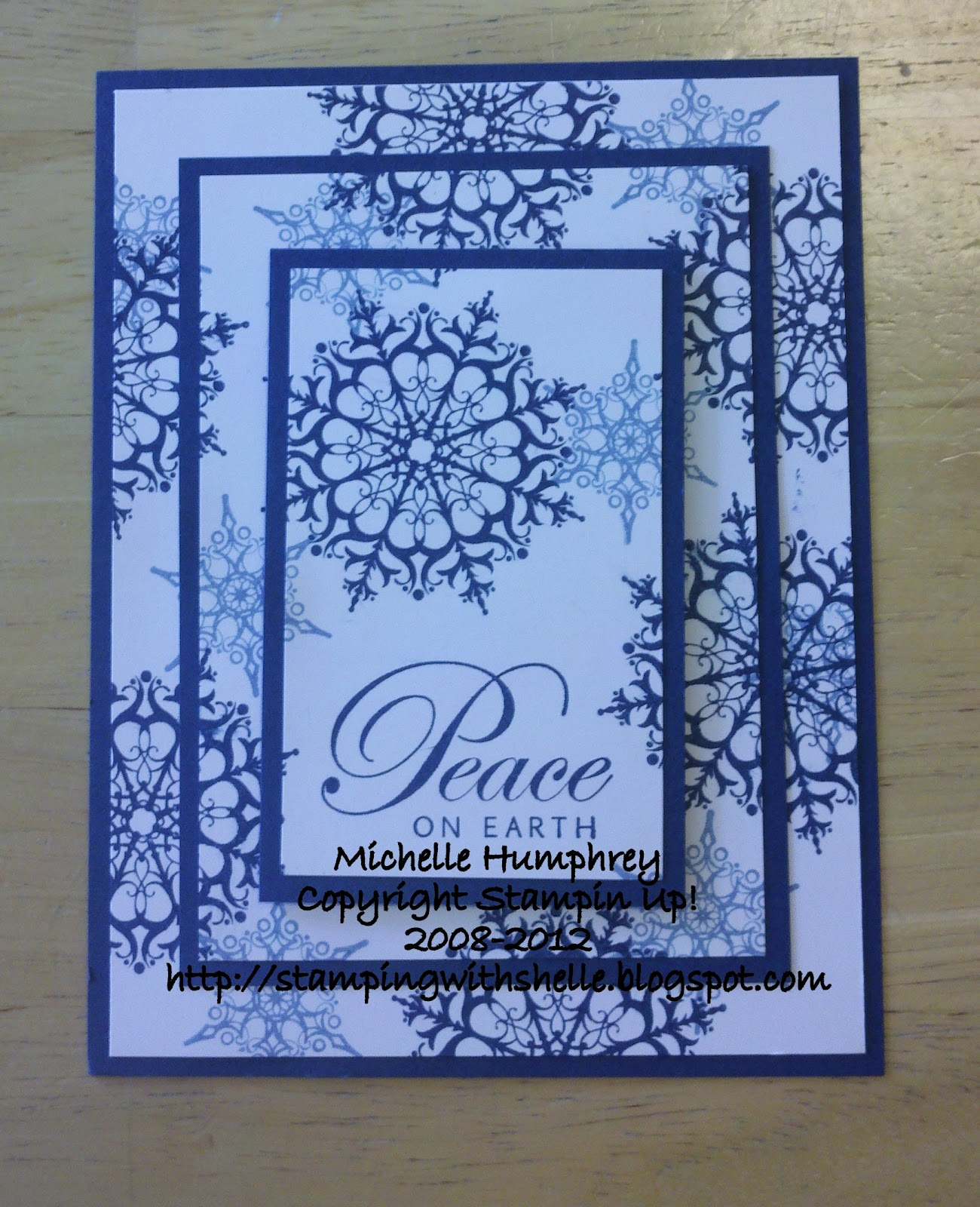 Stamping With Shelle Triple Time Stamped Christmas Card