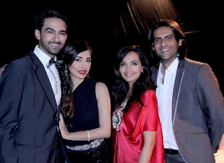 Lovely couples, Mr. & Mrs. Ali Safina & Mr. & Mrs. Mohib Mirza in PAS awards In Pakistan Celebrities