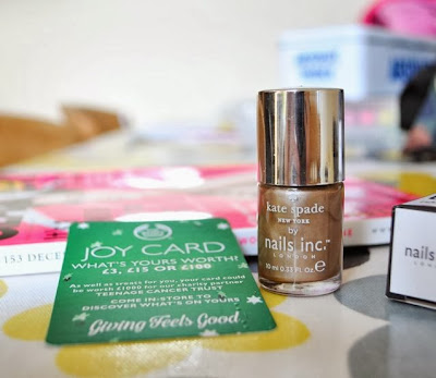 Glamour magazine freebies | Nails Inc & Body Shop