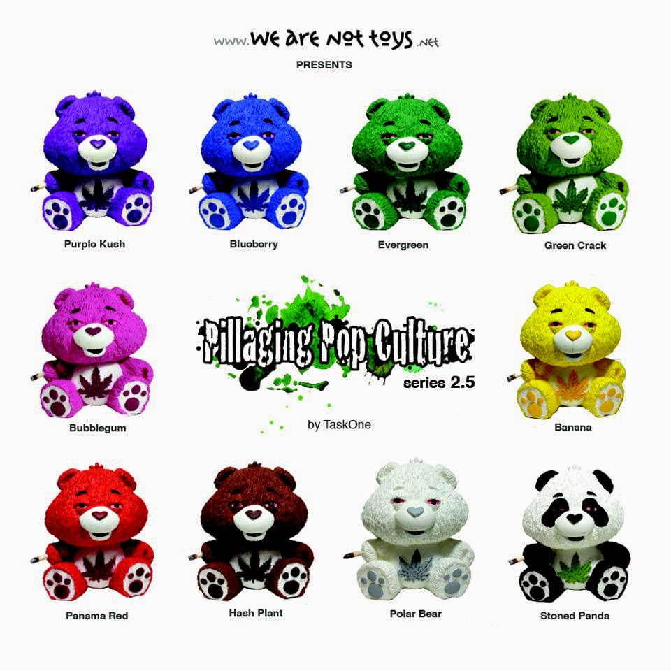 """Pillaging Pop Culture"" Series 2.5: Munchy Time Care Bears Blind Box Series by Task One"